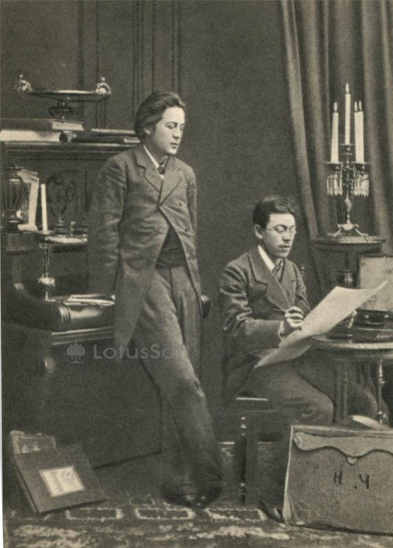 Чехов А.П, слева) с братом Н.П. Чеховым 1881-1882 г, 1970 год