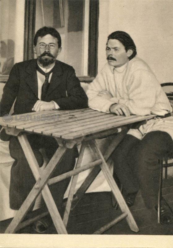 Чехов А.П. и Горький А.М. в Ялте 5 мая 1900, 1970 год