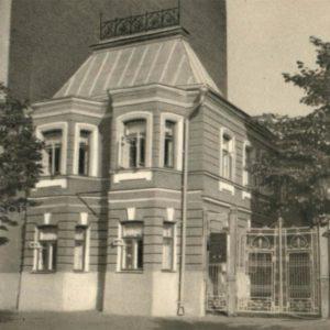 Москва. Садовая-Кудринская улица, дом 6. Здесь жил Чехов А.П. в 1886-1890 гг, 1970 год