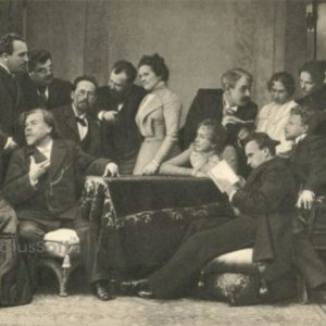 Anton Chekhov with artists of the Moscow Art Theater, 1970