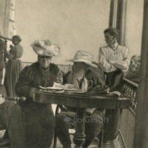 Anton Chekhov and Leo Tolstoy in Gaspra, Crimea September 12, 1901 g, 1970