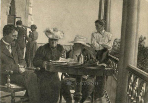 Чехов А.П. и Толстой Л.Н. в Гаспре, Крым 12 сентября 1901 г, 1970 год