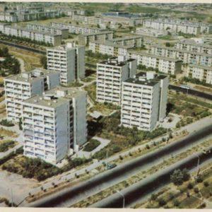 Новые жилые дома в Челанзарском районе. Ташкент, 1974 год
