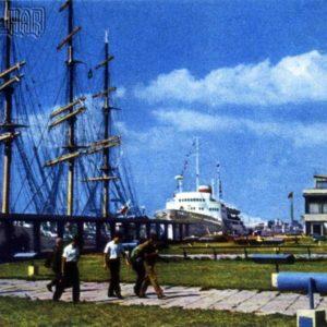 Marine passenger terminal. Riga, 1968