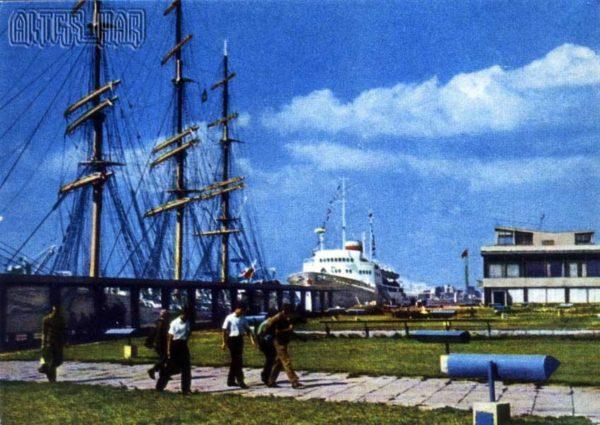 Морской пассажирский вокзал. Рига, 1968 год