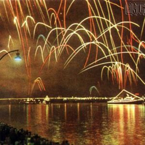Firework display. Riga, 1968