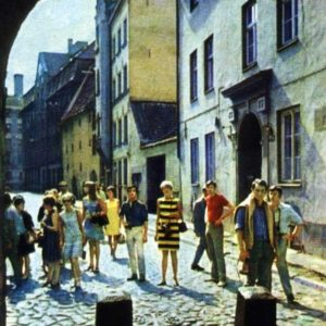 Туристы в Старой Риге, 1968 год