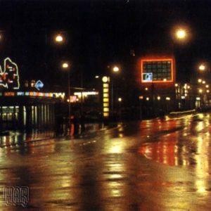 Lenin Street at night. Riga, 1968