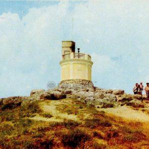 Вечный огонь на горе Митридат. Керчь, 1977 год