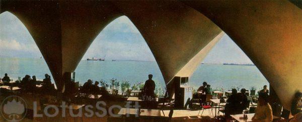 Баку. Кафе Жемчужина на берегу моря (1970 год)