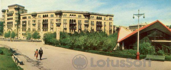 Баку. Дом ученых на Проспекте Нефтяников (1970 год)