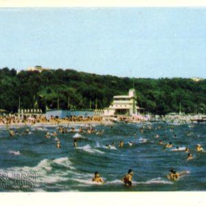 Zhdanov. City beach, 1964