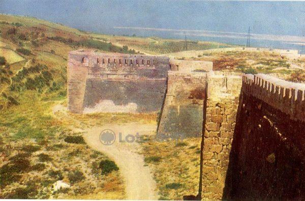 Дербент. Стены западной части цитадели Нарын-Кала, 1971 год