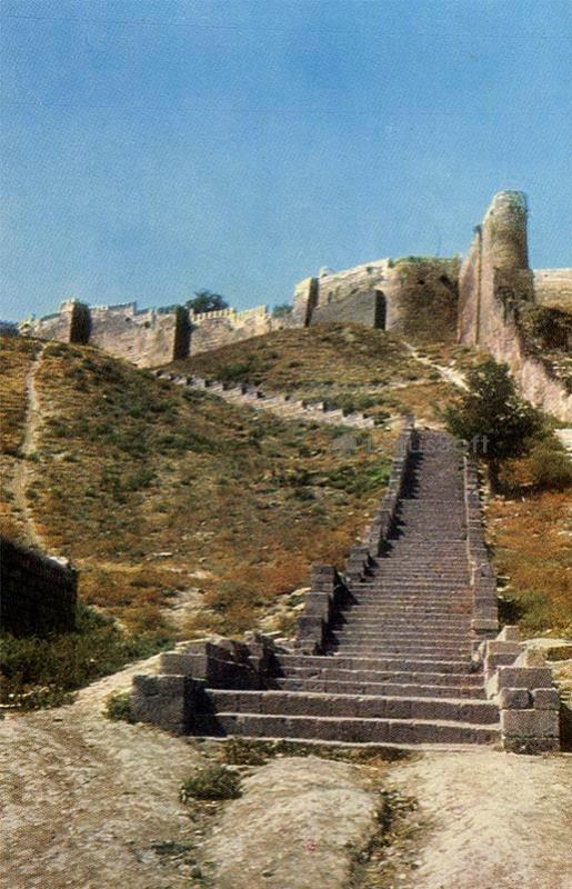 Derbent. The south side of the citadel Naryn-Kala, 1971