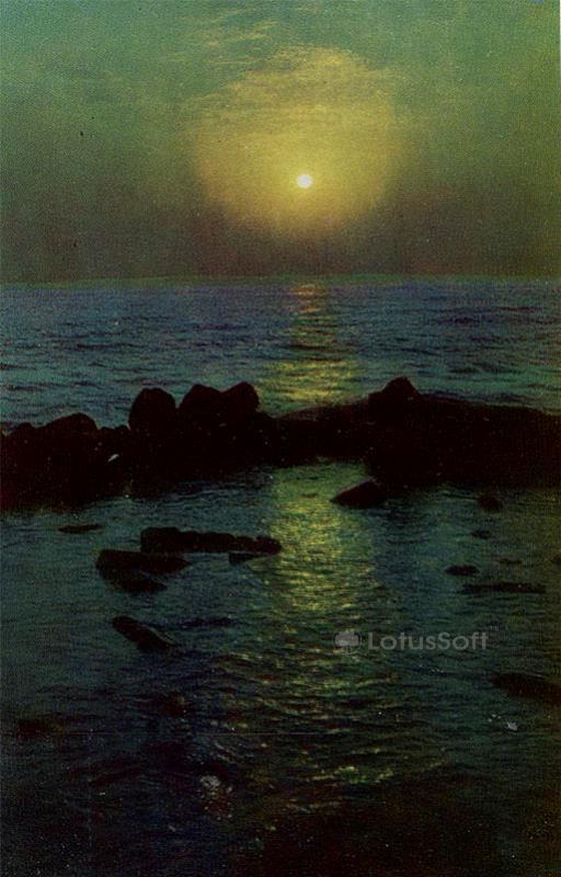 Derbent. Sunrise over the Caspian Sea, 1971
