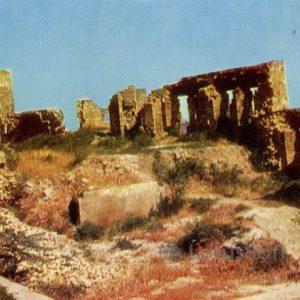 Derbent. The ruins of Khan's Palace, 1971