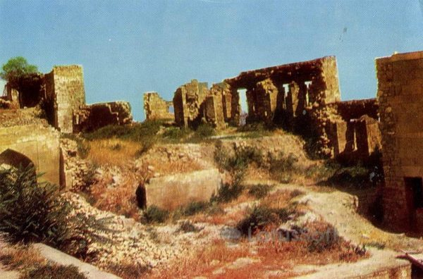 Derbent. The ruins of Khan's Palace, 1971