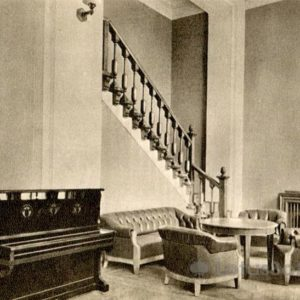Moscow State University. One of the living room in a student dormitory, 1953
