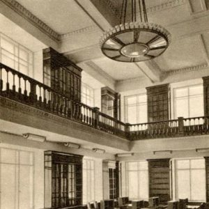 Moscow State University. Reading room of the library, Faculty of Geography, 1953
