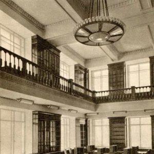 МГУ. Читальный зал библиотеки географического факультета, 1953 год