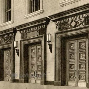 Moscow State University. Portals of the main entrance, 1953