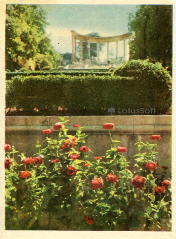 Кисловодск. Парк. Вид на верхнюю колоннаду, 1963 год