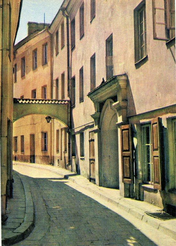Вильнюс. Старинная улочка Стиклю, 1981 год