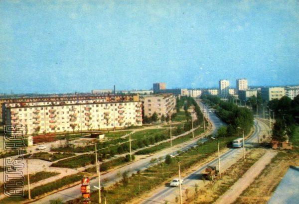 Калуш. Проспект Богдана Хмельницкого, 1973 год