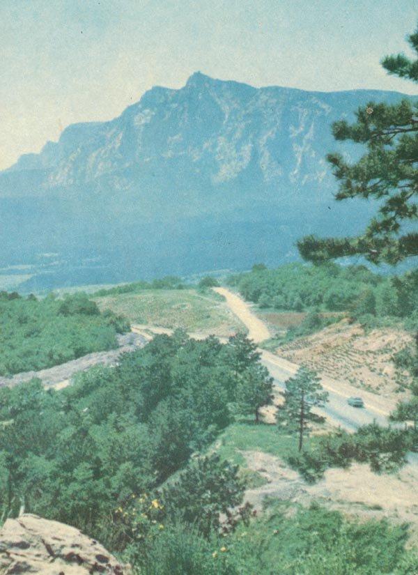 Вид на Ай-Петри, 1970 год