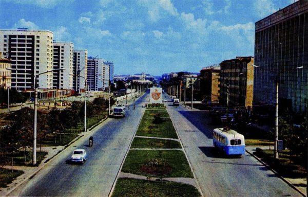 Челябинск. Проспект им. Ленина, 1974 год