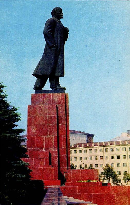 Челябинск. Памятник В.И. Ленину, 1974 год