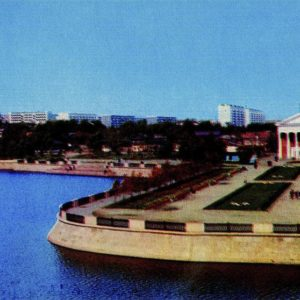 Chelyabinsk. Miass River embankment, 1974
