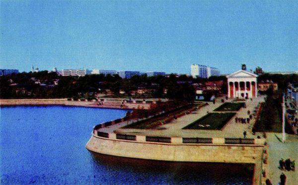 Челябинск. Набережная реки Миасс, 1974 год
