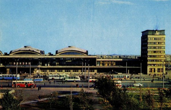 Челябинск. Железнодорожный вокзал, 1974 год