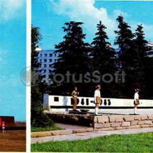 Voronezh. A fragment of the monument to the defenders of Voronezh, 1980