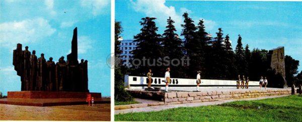 Воронеж. Фрагмент памятника защитникам Воронежа, 1980 год