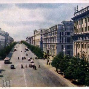 Минск. Проспект имени Сталина, 1956 год