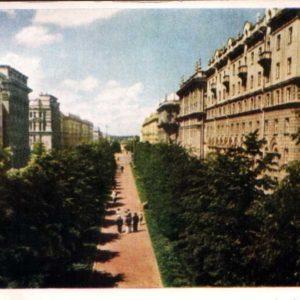 Минск. Улица Ленина, 1956 год