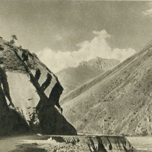 Georgian Military Road. On the way to Pasanauri, 1955