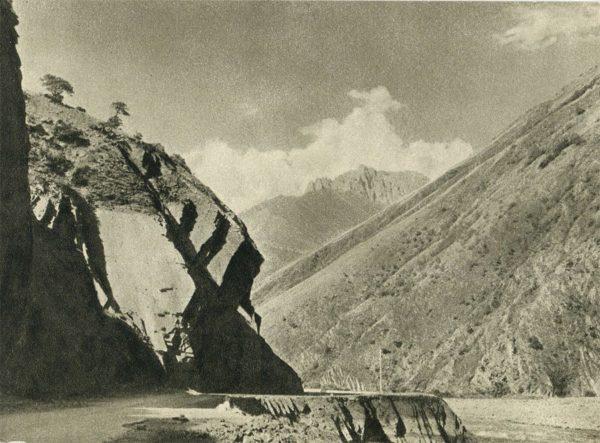 Военно-грузинская дорога. На пути к Пасанаури, 1955 год
