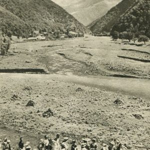 Georgian Military Road. At the confluence of the Black and White Aragvi, 1955