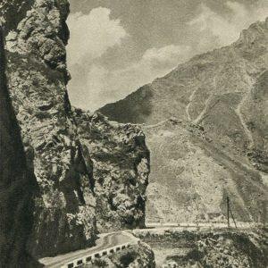 Georgian Military Road. On the way to the village of Kazbegi, 1955