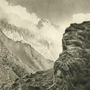 Georgian Military Road. At the Cross Pass, 1955
