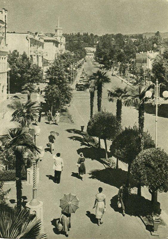 Сухуми. Улица Ленина, 1955 год