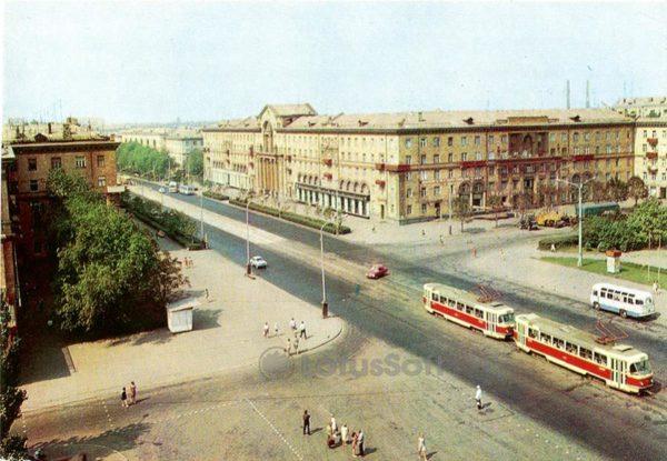 Запорожье. Площадь В. Маяковского, 1973 год