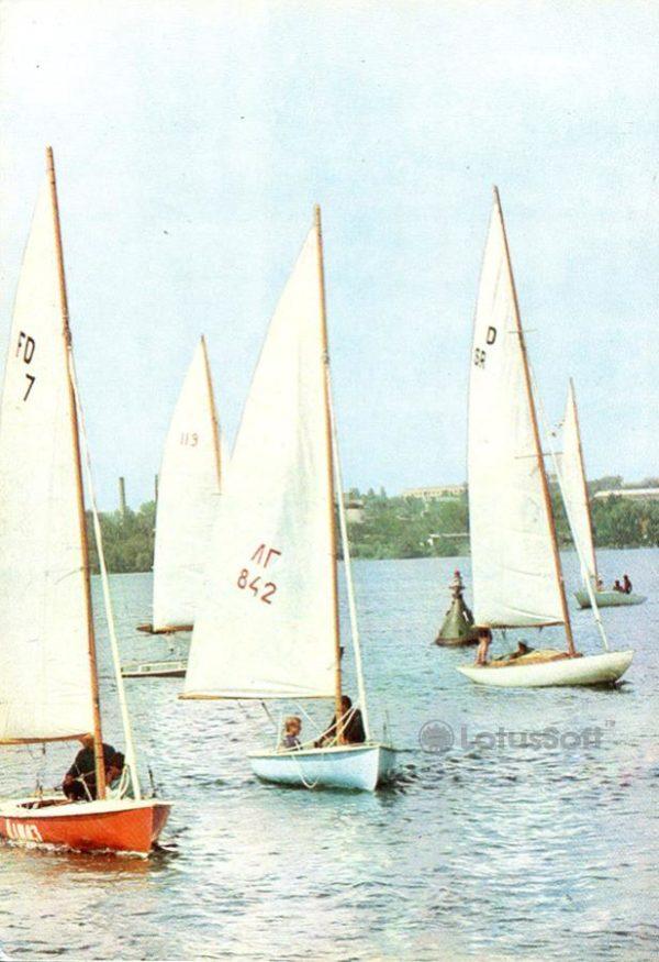 Запорожье. На озере им В.И. Ленина, 1973 год
