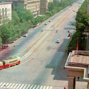 Zaporozhye. Lenin Avenue, 1973