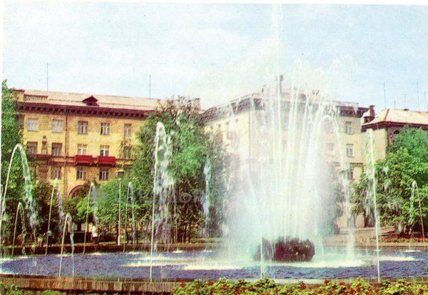 Запорожье. Фонтана на площади В. Маяковского, 1973 год