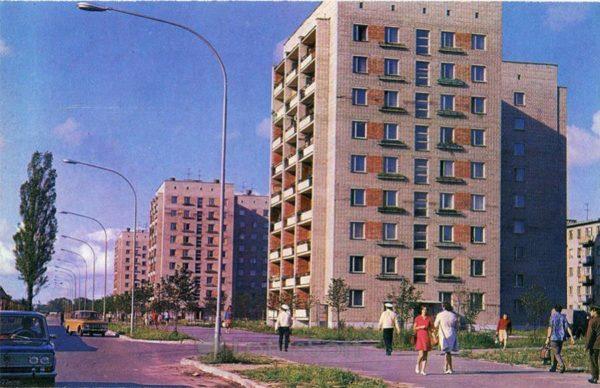 Калинград. Улица Гайдара, 1975 год