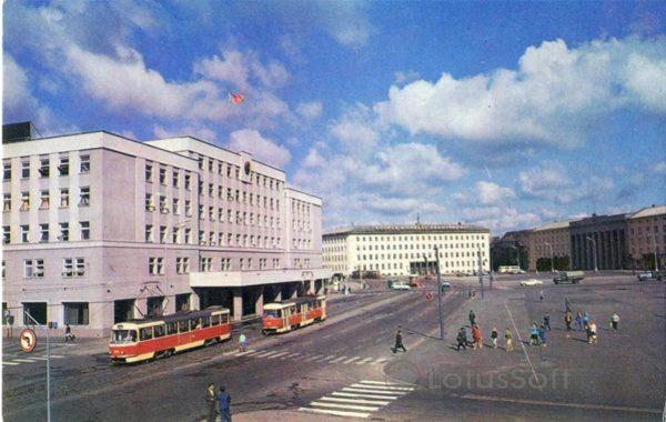 Калинград. Площадь победы, 1975 год